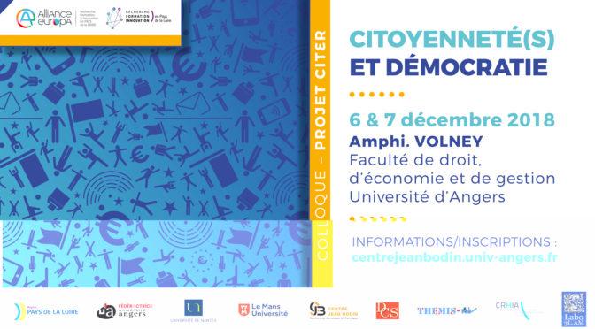 Compte rendu du colloque «citoyenneté(s) et démocratie»